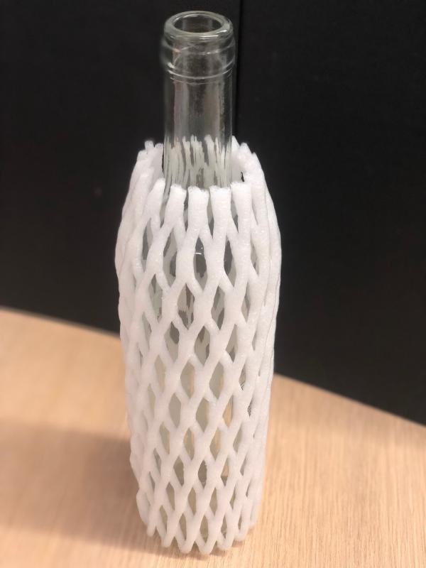 Rede de espuma protetora para garrafa